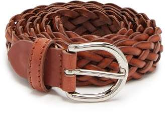 Giuliva Heritage Collection The Braided Leather Belt - Womens - Brown