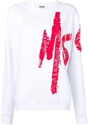 MSGM logo painted sweatshirt