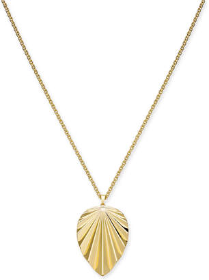 "Thalia Sodi Gold-Tone Palm Leaf Long Pendant Necklace, 32"" + 3"" extension, Created for Macy's"