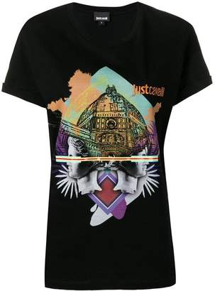 Just Cavalli logo graphic print T-shirt