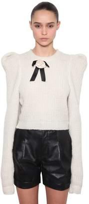 Philosophy di Lorenzo Serafini Puff Shoulders Wool Blend Sweater
