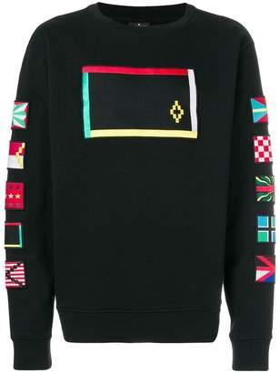 Marcelo Burlon County of Milan Flags crew-neck sweatshirt