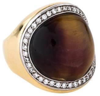 Roberto Coin 18K Tiger's Eye & Diamond Cocktail Ring