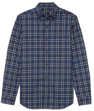 Banana Republic Grant Slim-Fit Luxe Flannel Plaid Shirt