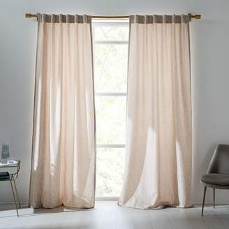 west elm Abstract Meadow Jacquard Curtain - Dusty Blush