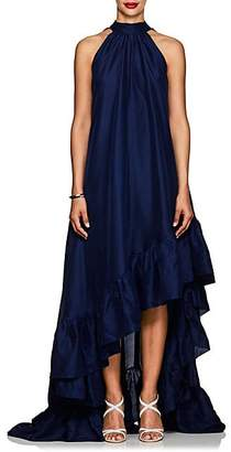 Azeeza Women's Plath Silk High-Low Dress - Navy