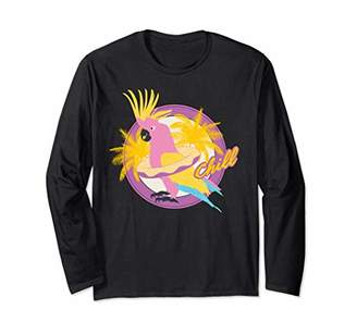 Cockatiel Cockatoo Summer Chill Vacay Party Beach Vibes Gift Long Sleeve T-Shirt