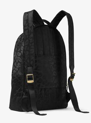 At Michael Kors Kelsey Large Leopard Nylon Backpack