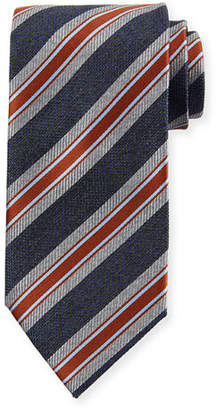 Brioni Two Striped Silk Tie