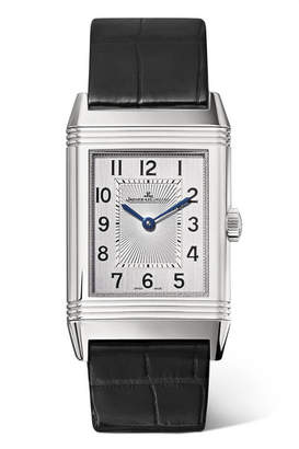 Jaeger-LeCoultre Reverso Classic Medium Thin Stainless Steel And Alligator Watch - Silver