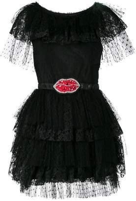 MSGM belted lips dress