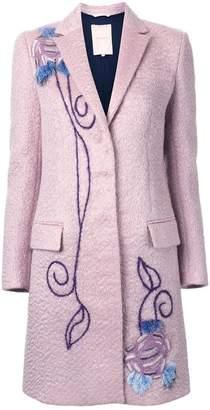 Roksanda embroidered single breasted coat