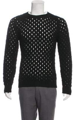 Christian Dior Open Knit Crew Neck Sweater