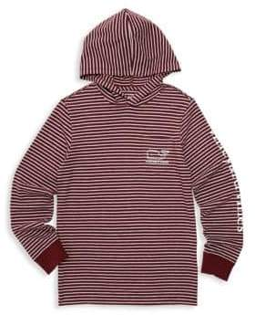 Vineyard Vines Baby, Little& Boy's Striped Logo Hoodie