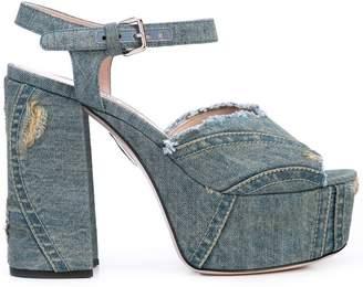 f2afcdf7a64 Miu Miu Heeled Sandals For Women - ShopStyle UK