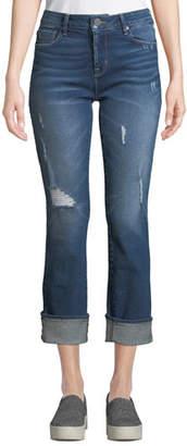 Parker Smith Runaround Sue Distressed Straight-Leg Jeans