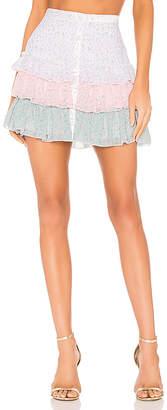 Divine Heritage Three Tiered Mini Skirt