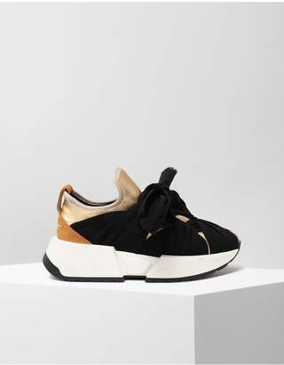 Maison Margiela Ribbon Tie Leather Sneakers