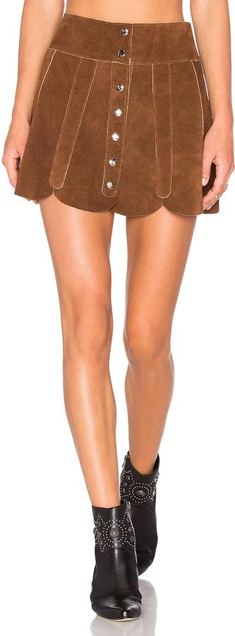Tan Leather Skirt - ShopStyle Australia