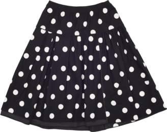 Marc Jacobs Polka Dot Cotton Stretch Skirt