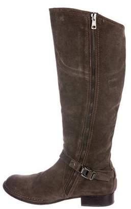 Alberto Fermani Suede Knee-High Boots
