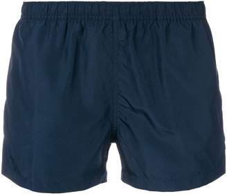 Ron Dorff contrast trim swim shorts
