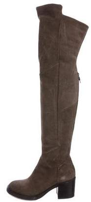 Alberto Fermani Suede Over-The-Knee Boots