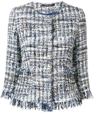 Tagliatore tweed embroidered blazer