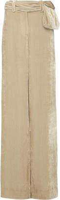Eleanor Balfour Exclusive Kira Velvet Wide-Leg Pant