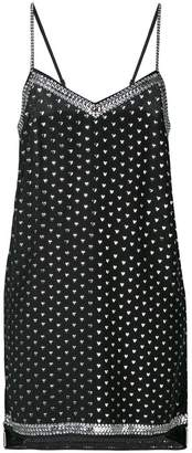 DAY Birger et Mikkelsen Adam Selman heart print slip dress