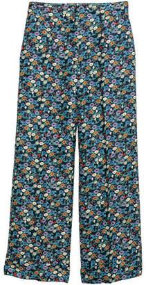 H&M Wide-cut Pants - Blue