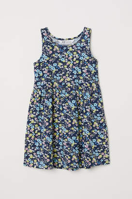 H&M Sleeveless Jersey Dress - Blue