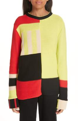 Eckhaus Latta Multistripe Cotton Sweater