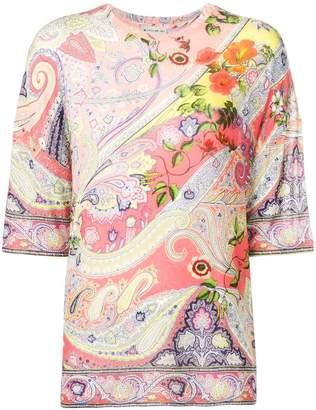 Etro paisley & flower print blouse