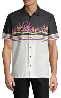 Volcom Printed Short-Sleeve Button-Down Shirt