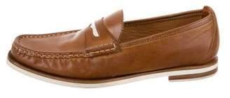 Rag & Bone Leather Round-Toe Loafers