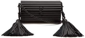 Saint Laurent Opium Tassel Embellished Plexiglass Cross Body Bag - Womens - Black