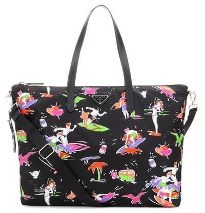 pradaPrada Printed Tote Bag