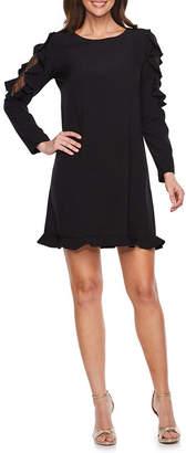 Nicole Miller Nicole By Lace Long Sleeve Sheath Dress