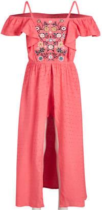 Epic Threads Little Girls Embroidered Swiss-Dot Romper Dress