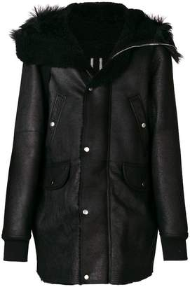 Rick Owens oversized shearling jacket