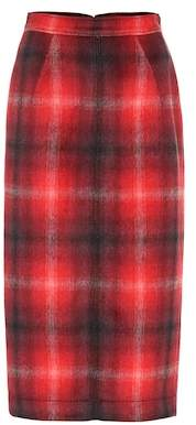 N°21 Plaid pencil skirt