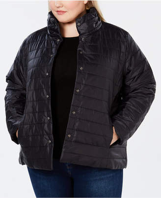 Eileen Fisher Recycled Nylon Plus Size Puffer Jacket