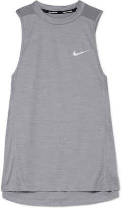 Nike Miler Dri-fit Stretch And Mesh Tank - Gray