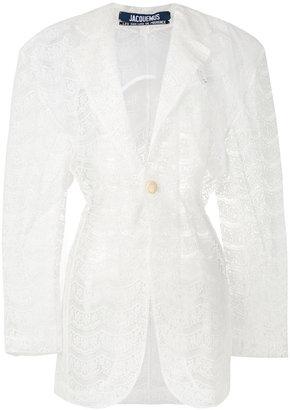 sheer lace coat