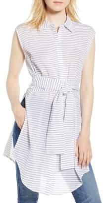 Kenneth Cole New York Stripe Tunic Shirt