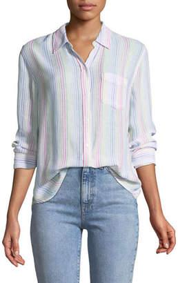 Rails Charli Candy-Striped Long-Sleeve Shirt