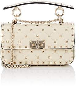 Valentino Women's Rockstud Spike Small Shoulder Bag - Cream