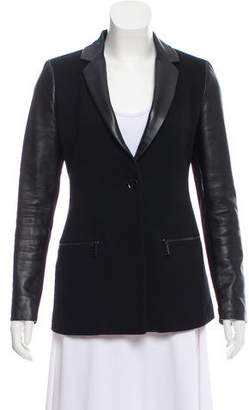 Belstaff Leather-Accented Notch-Lapel Blazer