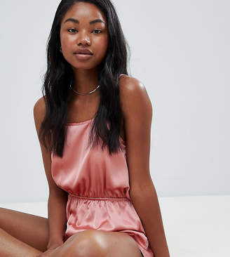 Missguided Satin Open Back Teddy